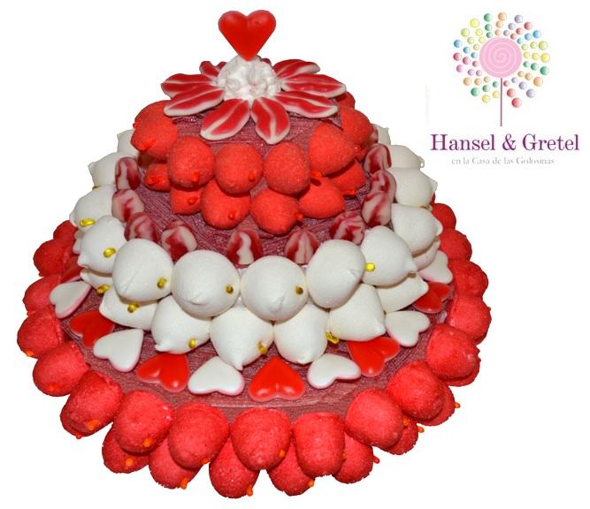 Tarta Roja & Blanca